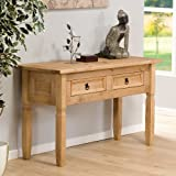Console Table Aztec Light Corona Pine Hallway Reception Telephone Table