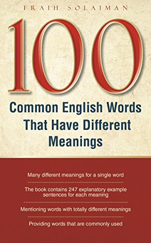 100 Common English Words That Have Different Meanings