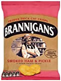 Brannigans Smoked Ham and Pickle Flavour Potato Crisps 40 G (Pack of 18)