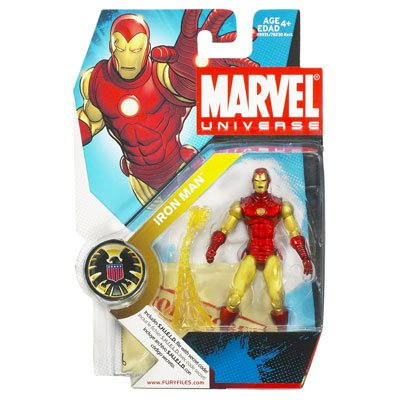 "Marvel Universe 3 3/4"" Series 3 Action Figure Iron Man (Classic)"