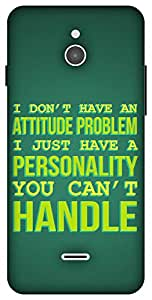 The Racoon Lean Attitude Problem hard plastic printed back case / cover for Infocus M2