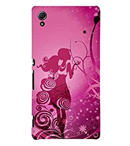 She is So Cute Girl 3D Hard Polycarbonate Designer Back Case Cover for Sony Xperia Z4 :: Sony Xperia Z4 E6553