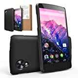 [BETTER GRIP] RINGKE SLIM® Google Nexus 5 Case [SF BLACK] SUPER SLIM + SF DUAL COATED + PERFECT FIT Anti-Slip Surface Premium Hard Case Cover w/ Full access to all functions for Google Nexus 5 [ECO Package]