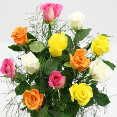1 Doz. Rainbow Roses Bouquet