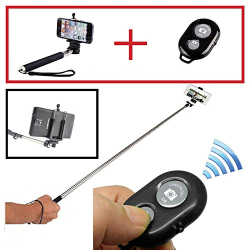 Hamist-Extendable Telescopic Handheld Pole Arm Monopod Self-Service Bluetooth Remote Camera Wireless With Tripod Adapter For Gopro