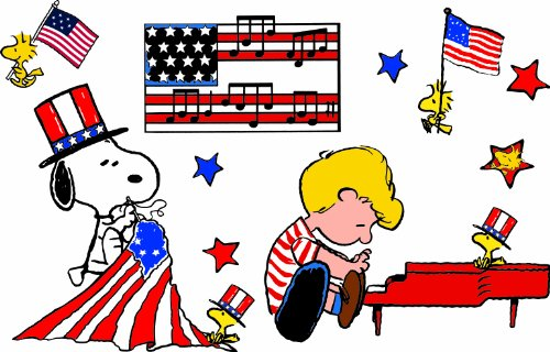 Eureka Peanuts Red White And Blue Bulletin Board Set front-722636
