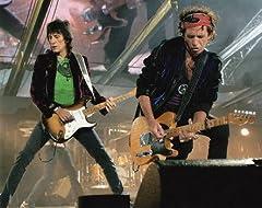 ブロマイド写真★ザ・ローリング・ストーンズ/キース・リチャーズ&ロン・ウッド/ライブでギターを弾く