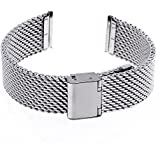 Ritche 22mm Mesh Stainless Steel Bracelet Wrist Watch Band Strap for Lg G Watch W100, W110, Urbane W150