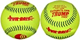 Trump® MP-EVIL-CP-Y Evil Sports 12 Inch USSSA Classic Plus Softball - Yellow Pebble Grain Leather Cover - USSSA Approved (Sold in Dozens)