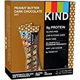 KIND PLUS, Peanut Butter Dark Chocolate + Protein, Gluten Free Bars, 1.4 Ounce, 12 Count