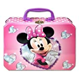 Disney Junior Minnie Mouse Bow-tique Rectangle Tin Box With Plastic Handle