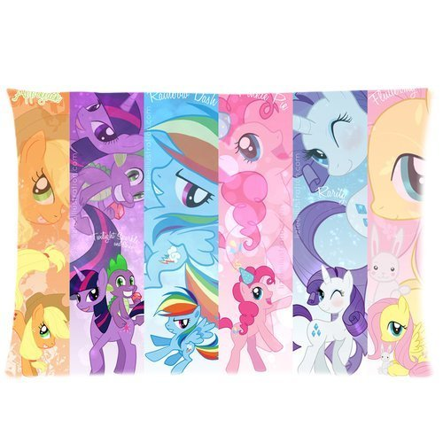 Cartrol Cotton & Polyester Custom Pillowcase- Brand New My Little Pony Rectangle Pillow Cases 20X30 (One Side) Comfortable For Lovers And Friends front-883654