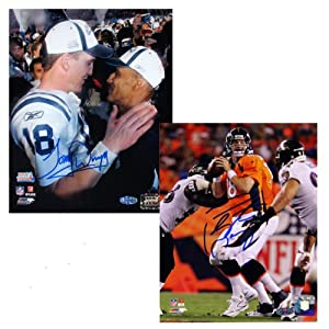NFL Indianapolis Colts Peyton Manning and Tony Dungy Autographed 8x10 Photo Package by Steiner Sports