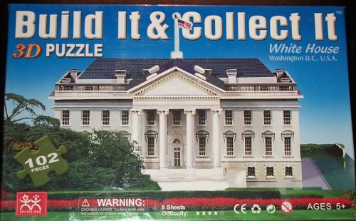 Build It & Collect It 3d Puzzle - The White House by Charmland