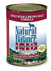Variety Natural Balance Limited Ingredient Diets® Canned Dog Formula - 13oz x 6cans, Wild Boar & Brown Rice, Rabbit & Brown Rice, Lamb & Brown Rice, Chicken & Sweet Potato, Duck & Potato, Sweet Potato & Fish