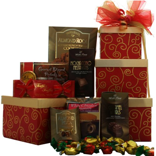 Art of Appreciation Gift Baskets Sweet Sentiments Gourmet Food and Snacks Gift Tower image