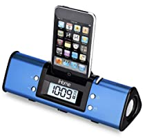 iHome iH16LVX iHome iP16 Portable Alarm Clock Stereo Speaker System for iPod (Blue)