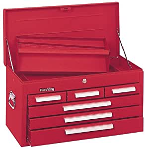 Kennedy 27 in 6 Drawer Tool Chest, Red