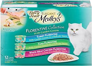 Variety Pack of Fancy Feast Elegant Medleys Wet Cat Food, 3 oz, Pack of 24
