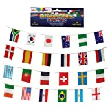 BUNTING 24 World Flags International Country Multination ideal for World cup football soccer 2014 Brazil