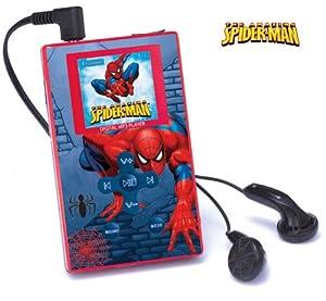 Spiderman DMP 103 SP - Reproductor de MP3 y vídeo (LCD, 3,8 cm (1,5 pulgadas), ranura para tarjetas SD, USB 2.0, 1 GB), color azul y rojo
