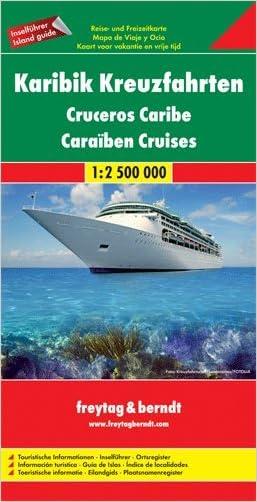Caribbean Cruise 1:2,500,000 Map, 2011 edition (Antigua Barbados Dominican Republic Grenada Guadeloupe Haiti Jamaica Cuba Martinique Nevis Panama Canal Puerto Rico St. Kitts St. Lucia St. Vincent)