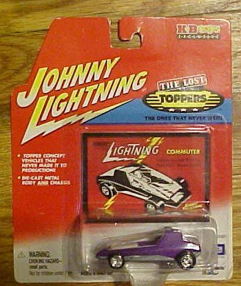 2001 - Playing Mantis - Johnny Lightning - The Lost Toppers Series - A K-B Exclusive - Skinni Mini - Green Chrome - Custom Wheels - 1:64 Scale Die Cast - w/ Collector Card - Out of Production - New - Mint - Rare - Limited Edition - Collectible