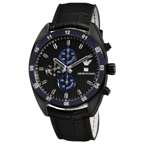 Emporio Armani Men's AR5916 Sport Black Chronograph Dial Watch