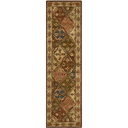 Safavieh Heritage Collection HG316A Handmade Beige Wool Runner, 2 feet 3 inches by 12 feet (2'3