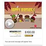 Amazon Gift Card - E-mail - Reggae Birthday Song (Animated) [American Greetings]