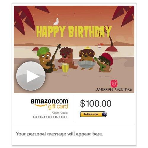 Amazon Sovga Card Email Reggae Birthday Song Animated
