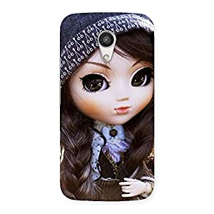 Sweet Angel Doll Multicolor Back Case Cover for Moto G 2nd Gen