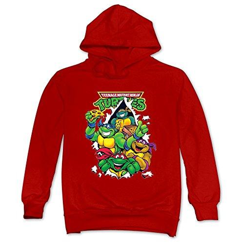 CAILING Men's Teenage Mutant Ninja Turtles Classic Pullover Hoodie Red XL