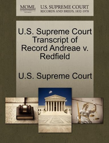 U.S. Supreme Court Transcript of Record Andreae v. Redfield