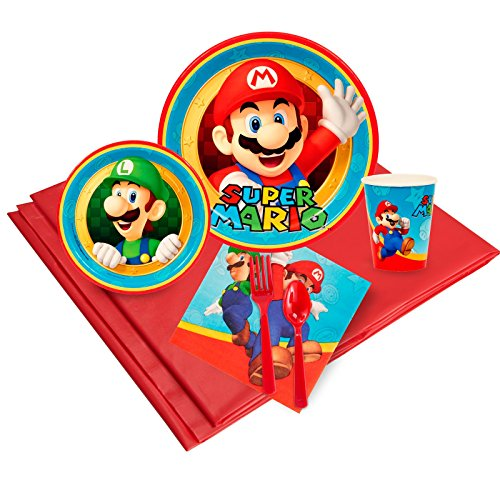 Super Mario Party Supplies - Party Pack for 8