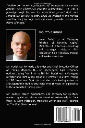 The Problem of HFT: Collected Writings on High Frequency Trading  & Stock Market Structure Reform