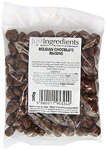 JustIngredients Belgian Chocolate Raisins 300g (Pack of 3)