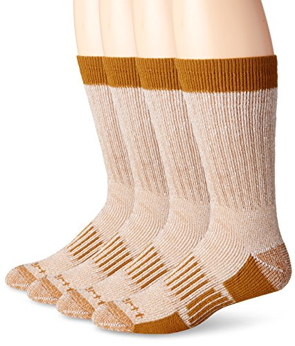 Carhartt Men's 4 Pack All Season Wool Work Socks,