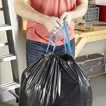 Hefty Strong Large Trash Bags (Multipurpose, Drawstring, 30 Gallon, 56 Count)