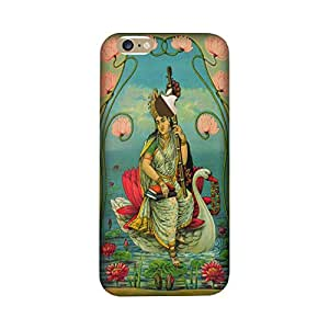Iphone 7 Perfect fit Matte finishing Goddess Saraswati Religious Mobile Backcover designed by Aaranis(Green)