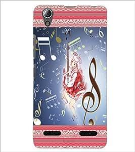 PrintDhaba Music Girl D-2484 Back Case Cover for LENOVO A6000 PLUS (Multi-Coloured)