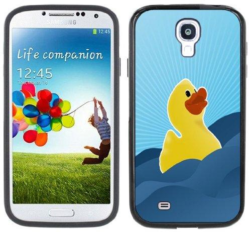 Rubber Duck Duckie Ducky Handmade Samsung Galaxy S4 Black Bumper Hard Plastic Case front-321571