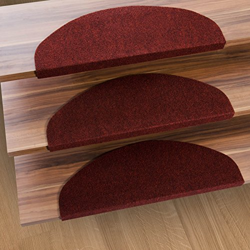 casa pura stair tread mats leipzig red 15 piece set 9 5 x 25 multiple colours durable. Black Bedroom Furniture Sets. Home Design Ideas