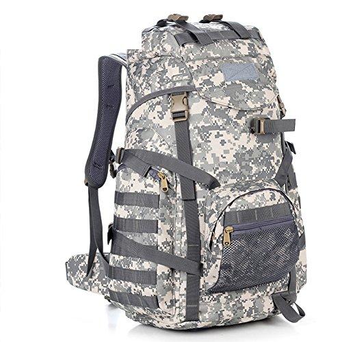 Grand sac / sac à bandoulière capacité camouflage / sac à dos tactique extérieur / sac d'alpinisme-1 60L