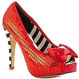 Iron Fist Ruby Red Slipper Peeptoe Platforms Pumps Shoes