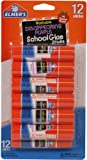 Elmer's Disappearing Purple School Glue Sticks, 0.21 oz Each, 12 Sticks per Pack (E1559)