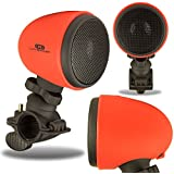 Bicycle Speaker, LIVEAMP Portable Wireless Bluetooth Bicycle Speaker RED [Active Lifestyle] [Rugged Rechargeable] [Splashproof Bike Mount] for Various Devices (Apple, Samsung, HTC, LG, Microsoft, Nokia)