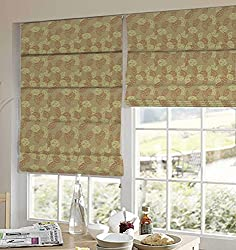 PRESTO BAZAAR 1 Piece Polyester Floral Blind - Orange