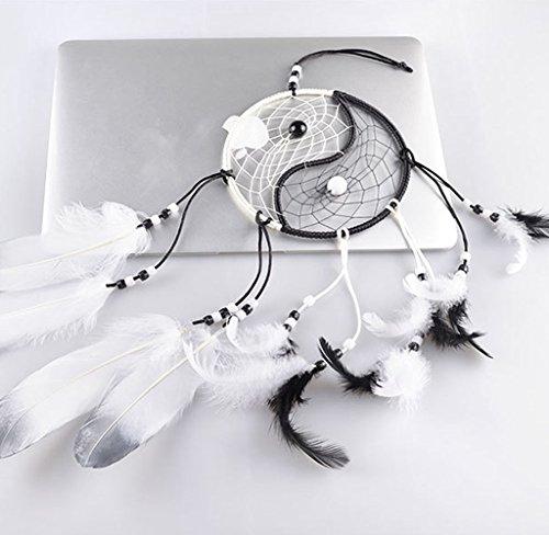 Ussore Dream Catcher Circular White Feathers Wall Hanging Decoration Decor Craft Window Home Decoration Decor