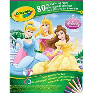 Crayola Coloring Pages on Amazon Com  Crayola Coloring Pages  Mini  Disney Princess 1 Kit  Toys